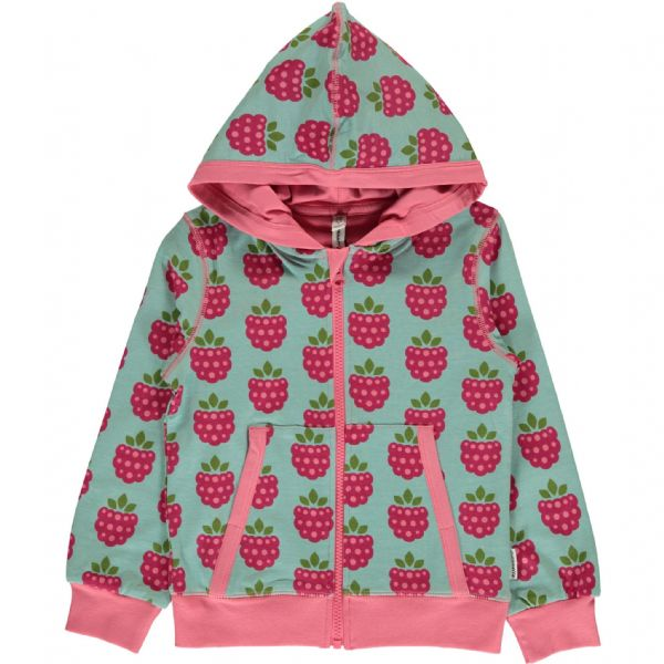 Maxomorra Hooded Cardigan Raspberry